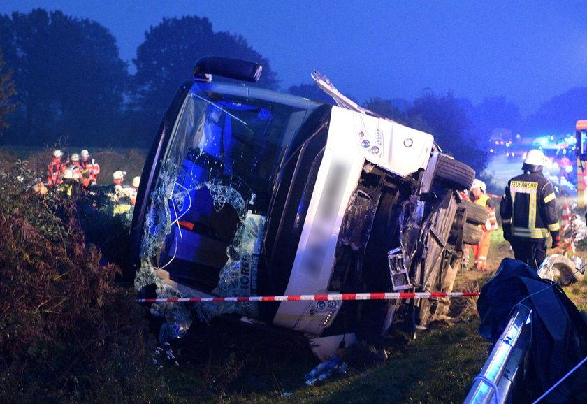 Wypadek polskiego autokaru pod Hamburgiem