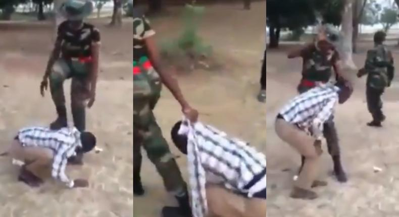 """Angry soldiers assault a friendly civilian for merely saying """"you're beautiful (video)"""
