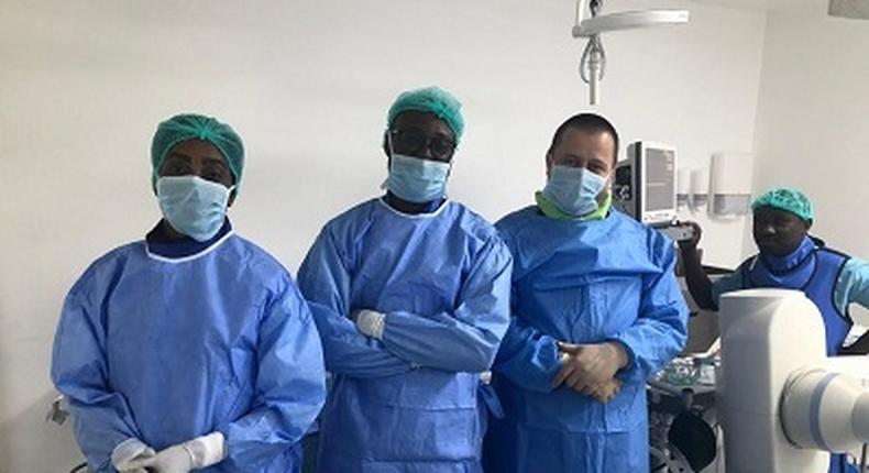 A team of Ghanaian doctors performs first-ever brain surgery without cutting the skull