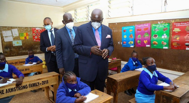 Scenes at various schools as learning resumes under Covid-19 regulations [Photos]