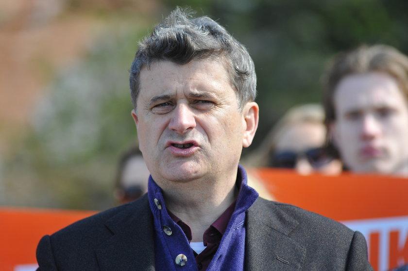 Janusz Palikot z brodąi współprzewodniczącą