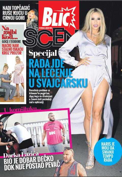 Nova Blic Scena donosi specijal o odlasku Rade Manojlović na lečenje!