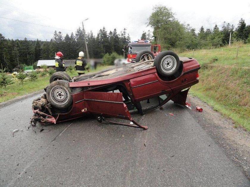 Wypadek na DK 75 w Mochnaczce