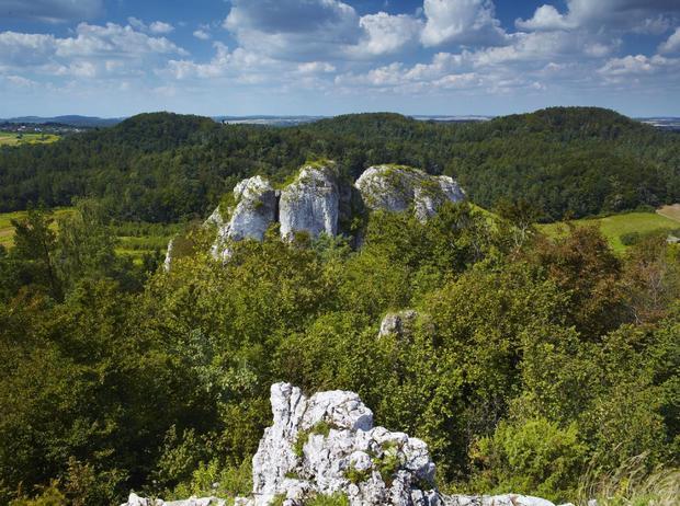 Widok z Zegarowych Skał, Smoleń