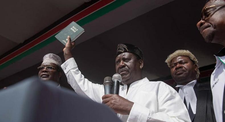 How parallel swear-in ceremony caused trouble in Raila's family – Miguna Miguna's new book reveals