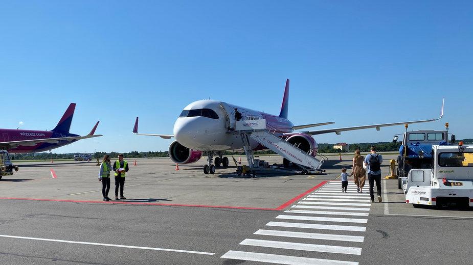 Incydent na lotnisku w Gdańsku