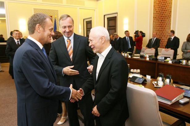 Donald Tusk, Bogdan Zdrojewski i Michał Boni