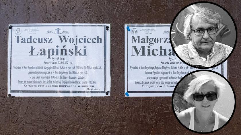 Ostatnie pożegnanie prof. Łapińskiego i jego żony