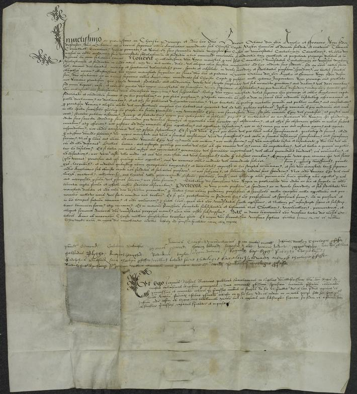 A letter recognising Henry VIII. as supreme head of the Church of England; 23 Oct. 1535. Lat . With