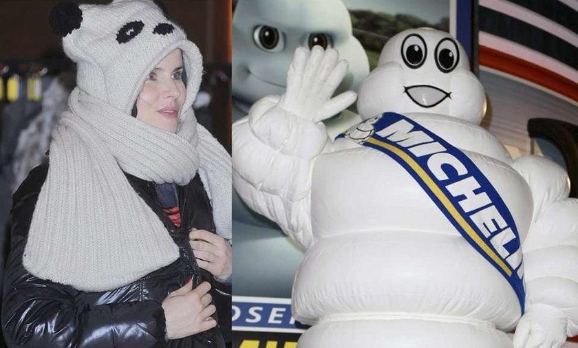 Żona Macieja Stuhra jak ludzik Michelin. Foto