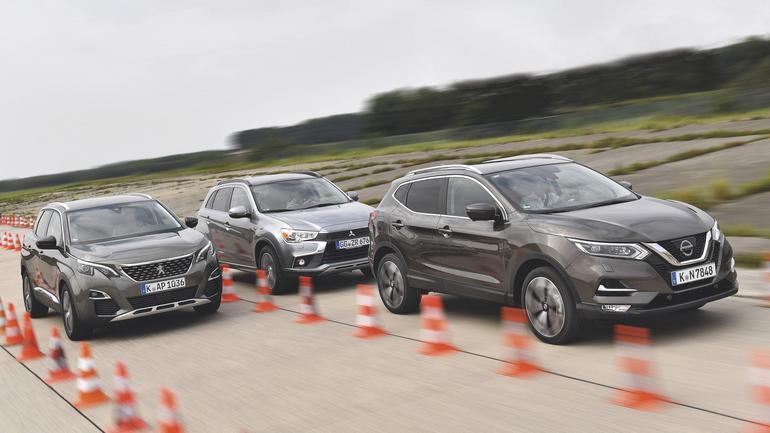Nieduże silniki, wysokie ceny - Mitsubishi ASX, Nissan Qashqai, Peugeot 3008