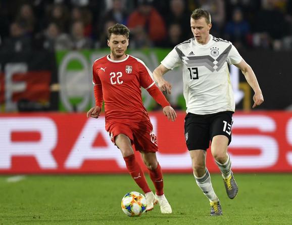 Adem Ljajić na utakmici protiv Nemačke