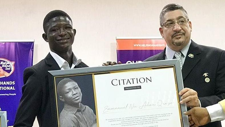"Strika receives citation for his role in ""Beasts Of No Nation"""