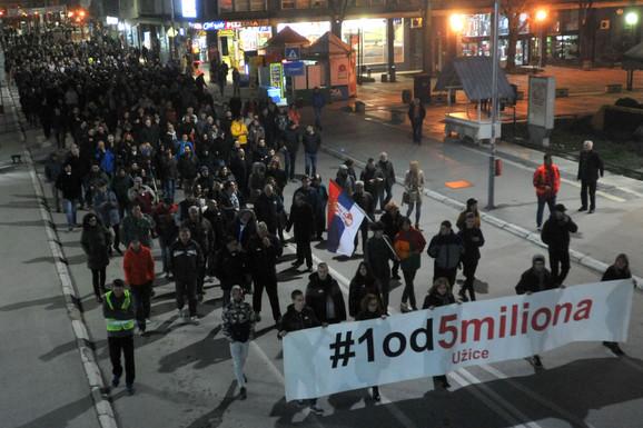 Protest u Užicu