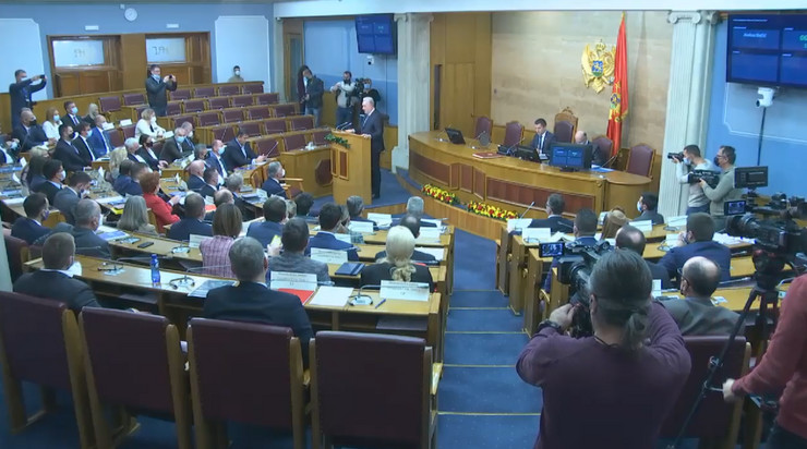 Zdravko Krivokapić, Crna Gora, Skupština
