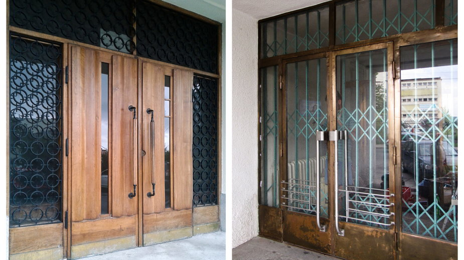 Renowacja modernistycznych drzwi w Gdyni