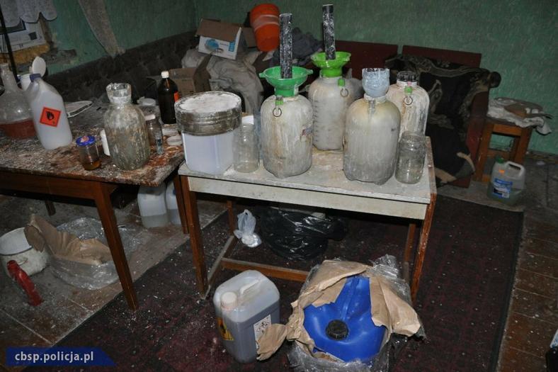Laboratorium, w którym produkowano amfetaminę, działało na poddaszu