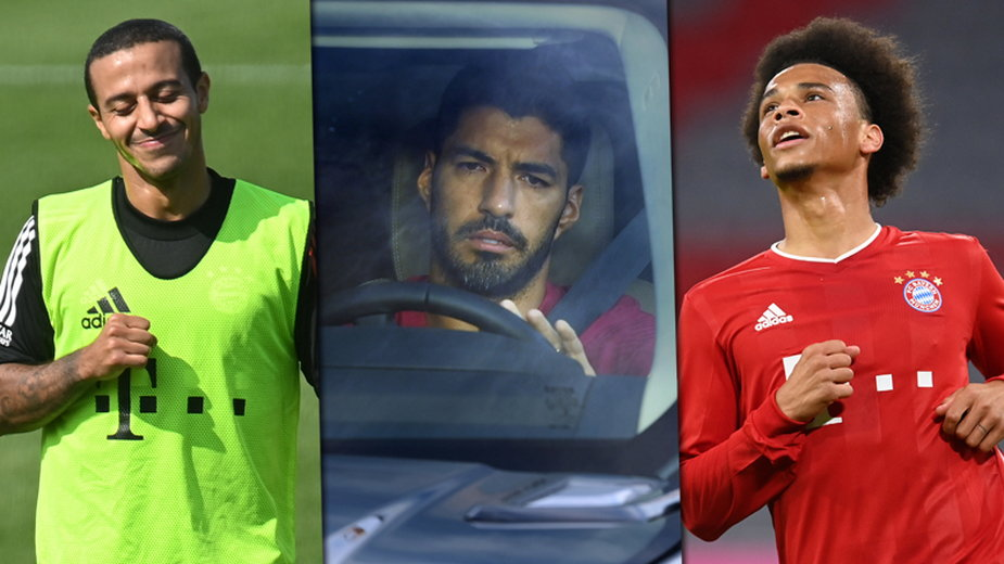 Thiago, Luis Suarez, Leroy Sane