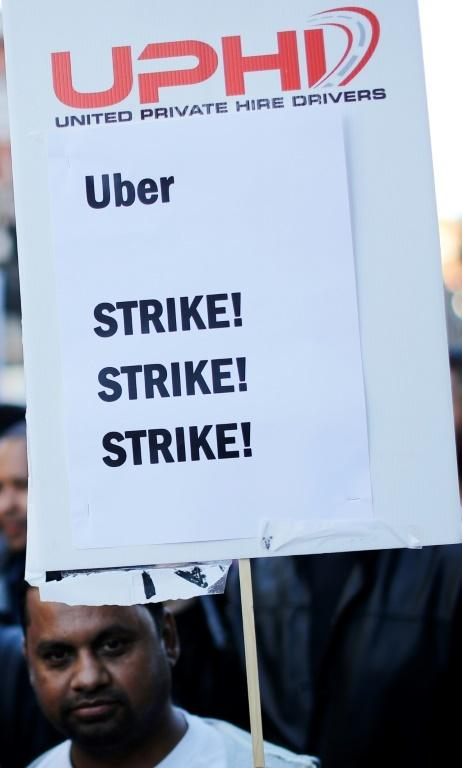 Uber drivers in Britain have been demanding better rights