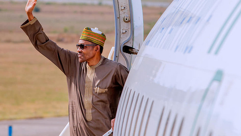 Image result for Buhari jets out to UK on 10-day private visit
