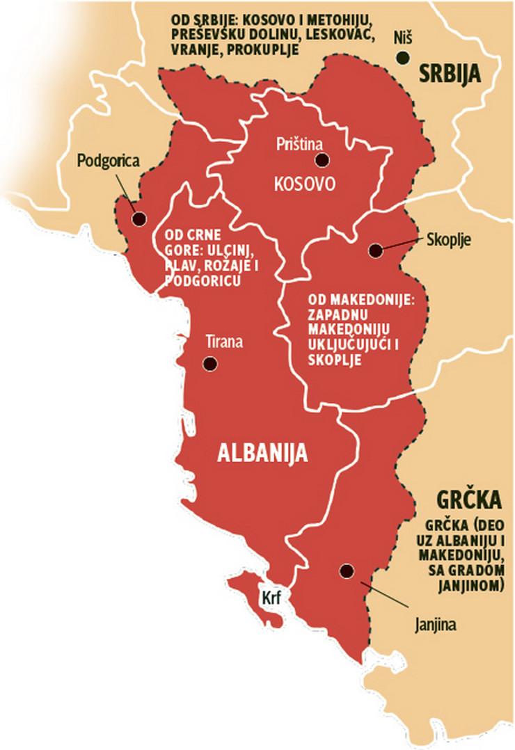 Image result for mapa albanije po  agenciji cia