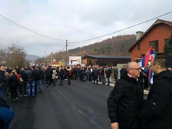 Goran Rakić je stigao na protest
