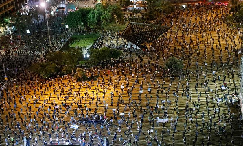 Kilka tysięcy Izraelczyków protestowało w Tel Awiwie