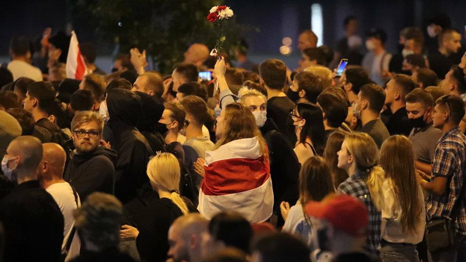 Protesty na ulicach Mińska