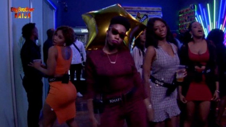 After winning a car valued at N3.85 million, Khafi had a wonderful Saturday Night Party. [Twitter/BBNaija]
