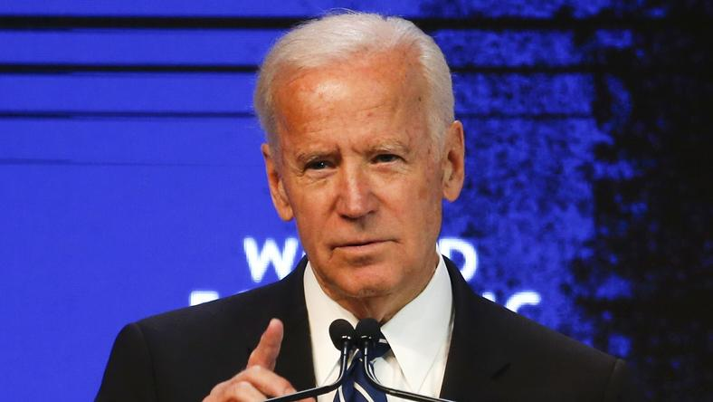 Joe Biden, Vice President of the United States speaks at the annual meeting of the World Economic Forum (WEF) in Davos