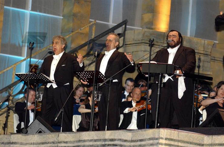 Plasido Domingo, Hose Kareras i Lučano Pavaroti profimedia