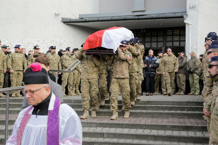 Pogrzeb bohatera z policji