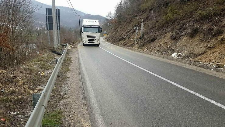 Odron kod graničnog prelaza Gostun