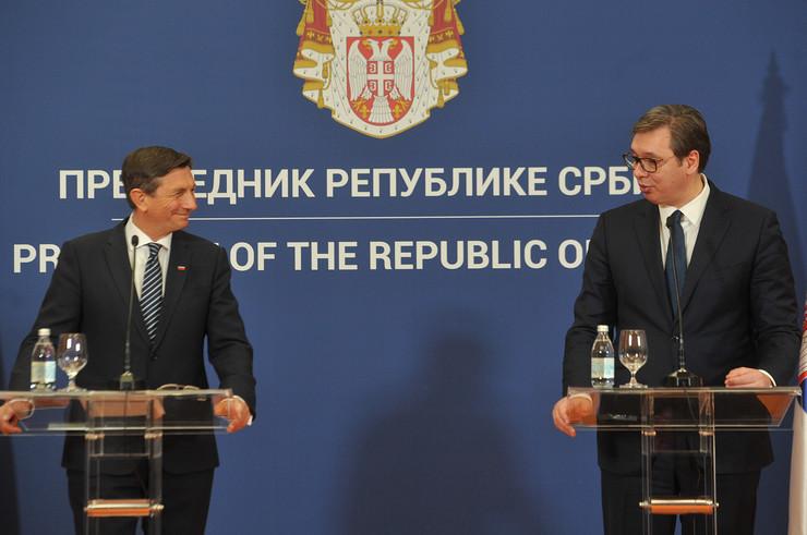 Aleksandar Vučić, Borut Pahor, Srbija, Poseta