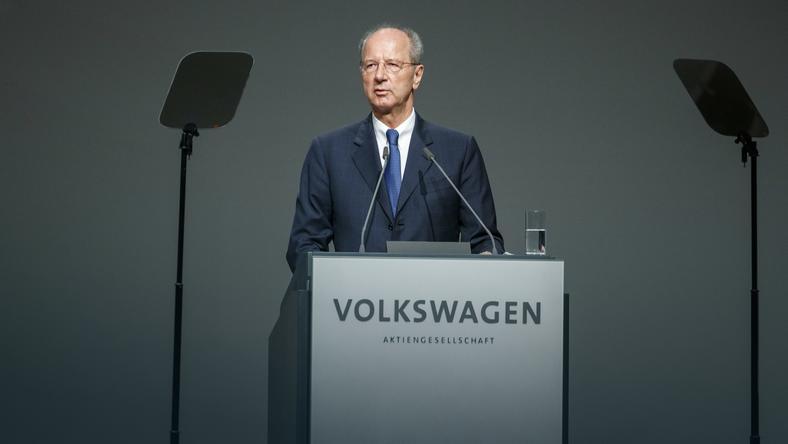 Prezes rady nadzorczej Volkswagena Hans Dieter Poetsch