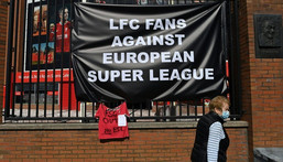 Liverpool Football Club was one of six top English Premier League teams facing a furious backlash over the renegade Super League plan Creator: Paul ELLIS