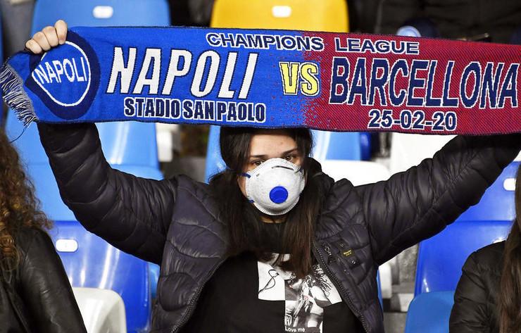 Detalj sa meča Napoli - Barselona