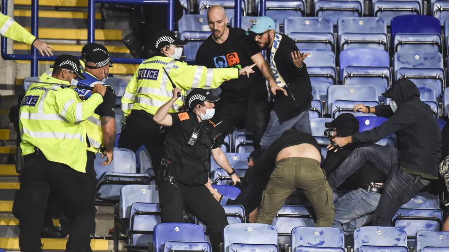 Awantura podczas meczu Leicester - Napoli