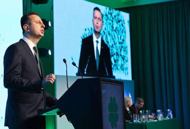 Władysław Kosiniak-Kamysz przemawia podczas XII Kongresu Polskiego Stronnictwa Ludowego