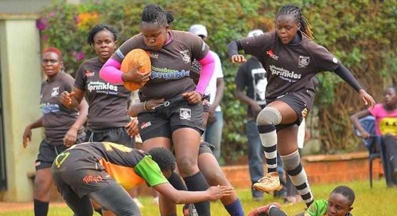 Kenya Rugby Players in action (Ladies)