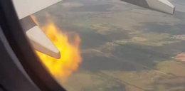 Panika w powietrzu! Silnik samolotu zaczął się palić