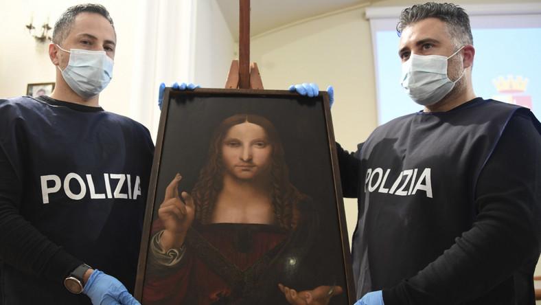 Skardziony obraz Leonardo Da Vinci