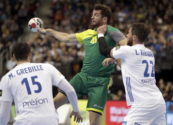 Detalj sa meča između Francuske i Brazila