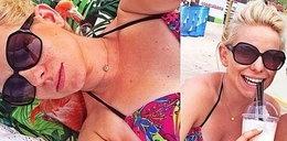 Ciężarna gwiazda Idola w bikini