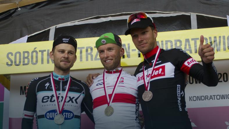 Michał Gołaś (L), Tomasz Marczyński  i Paweł Bernas