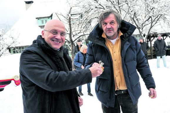 Ministar Vladan Vukosavljević  sa Emirom Kusturicom