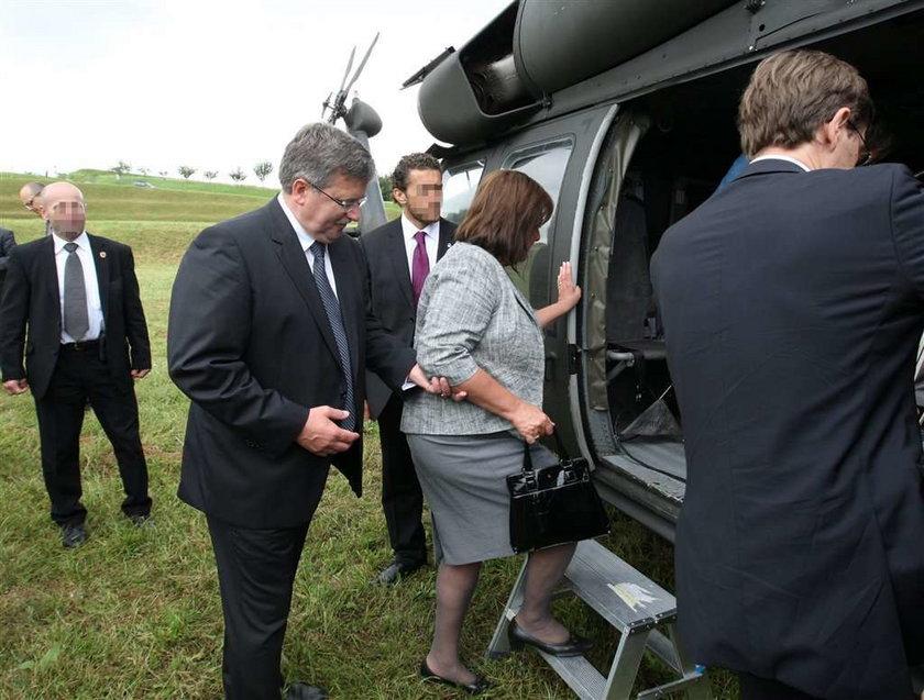 Anna Komorowska w... helikopterze!