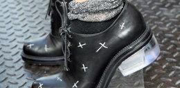 Buty 2 w 1: męskie pantofle na obcasie