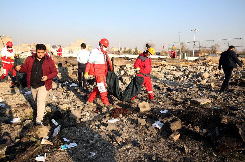 Katastrofa samolotu w Iranie