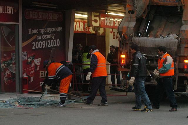 Na meti huligana: Stadion Crvene zvezde posle napada navijača Partizana